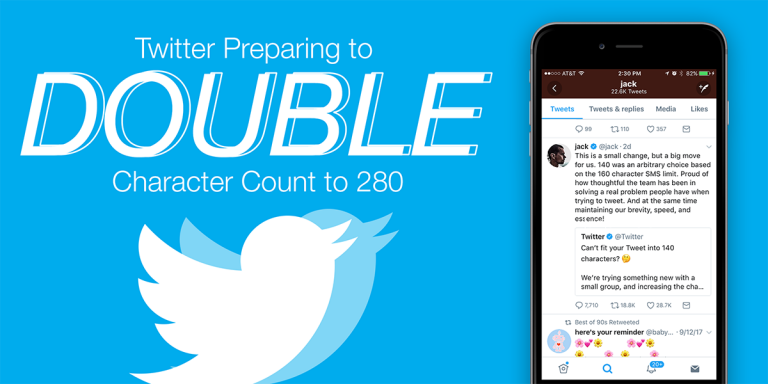Twitter Preparing to Double Character Count to 280