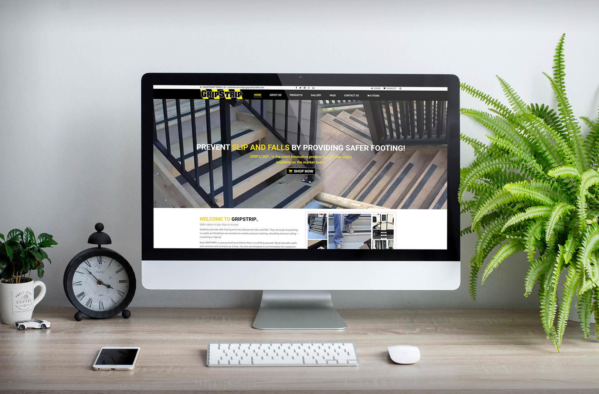 BMGcreative - GripStrips ® Web Mockup