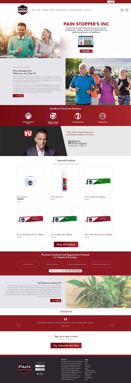 BMGcreative - Painstopers inc Homepage Mockup